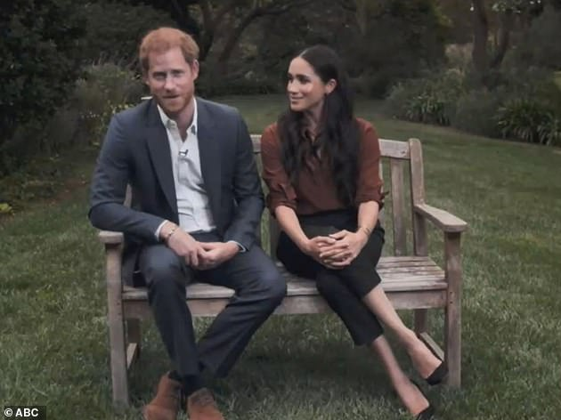 Meghan and Harry were accused of 'crossing the line' in September in a Time 100 video (above) where they told US voters to 'reject hate speech, disinformation and negativity online '' during `` the most important election of our life ''