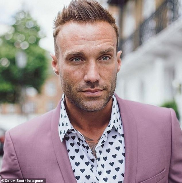 Angry:She was with friend Calum Best, 40, who had tried to discourage her from taking the drug, and was left upset when she finally indulged