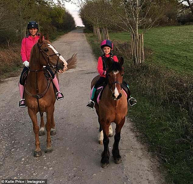 """Kate explained: 'All my kids, we all ride and a couple of years ago, Princess was on her horse and me being a typical mum, going over the jump fell off, went, 'Get up, you're alright!"""""""