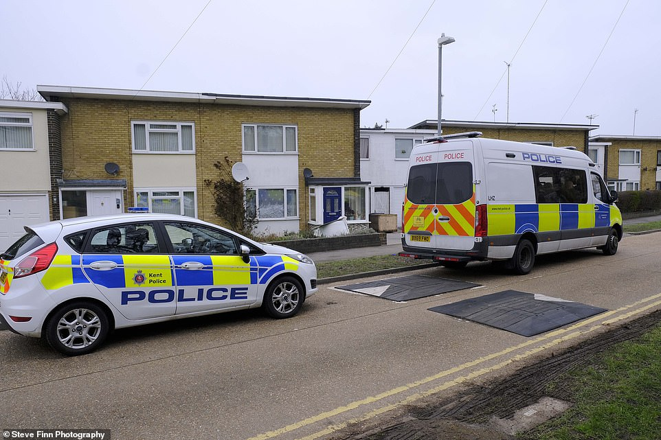 The home of Wayne Couzens, 48, is being guarded by police after they had finished searching the building and garden