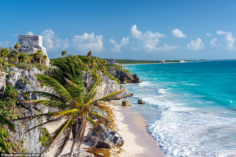 The second-fastest-growing international destination for Britons by Tripadvisor search volume is Tulum in Mexico, pictured