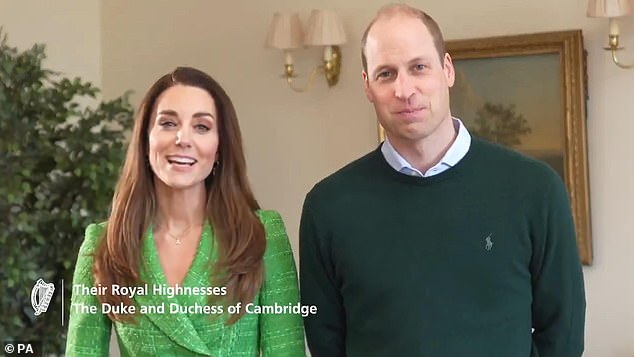 The Duchess of Cambridge, 39, showcased her love for literal dressing yesterday as she donned a £260 shamrock charm necklace to wish the people of Ireland a happy St Patrick's Day