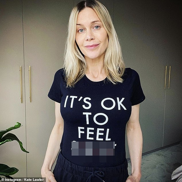 'It's ok to feel s**t': Earlier this week, the new mum thanked her fans for their 'love and support' after she shared an emotional post to Instagramu00A0admitting she was at 'breaking point'