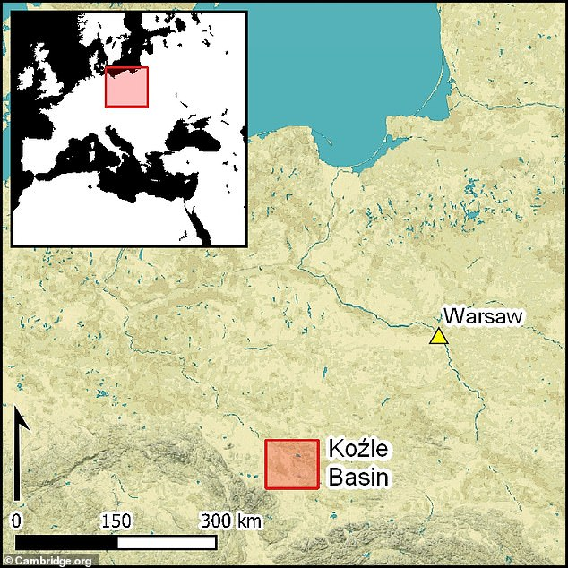 Thethe Koźle Basin is located in Poland, but was a part of Germany during WWII and occupied by the Nazi army