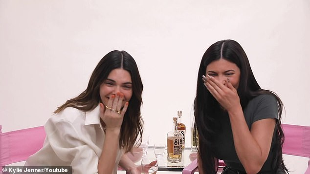 Glam:Feeling sufficiently buzzed, Kendall and Kylie sat down to do their makeup, updating their daytime beauty looks for a night on the town