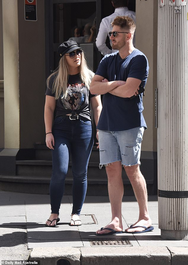 Trouble in paradise? Married At First Sight's Bryce Ruthven and Melissa Rawson, 31, were spotted looking tense after he finally admitted to having a secret girlfriend