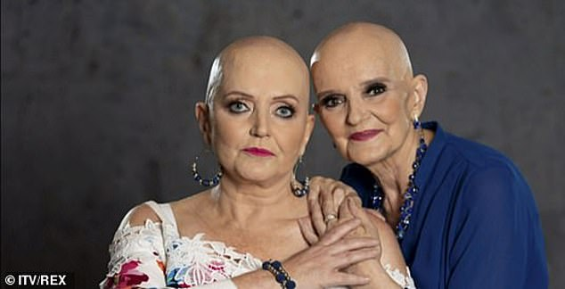 Genetic: Coleen sisters Linda (left) has secondary cancer, while Anne (right) was diagnosed with breast cancer last year