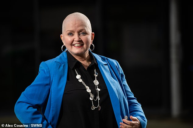 Brave: Coleen went on to say how Linda has scans every three months and the last time she went, doctors told her that her cancer had spread from her hip to her liver (pictured last year)