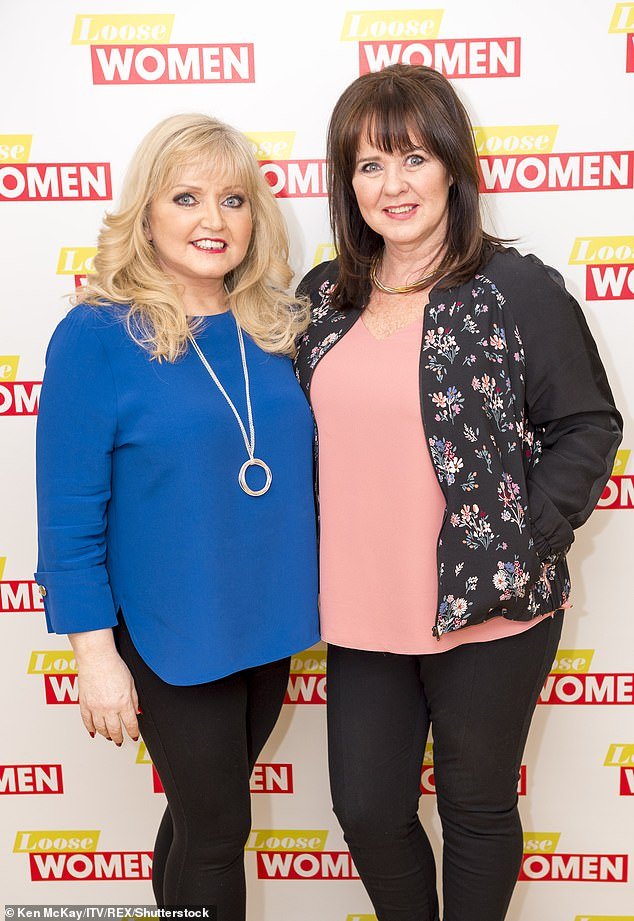 Sisters: Coleen says of Linda: 'She's always strong and is always positive. That's the first I've heard her say that, that she's scared of dying and doesn't want to die' (pictured in 2017)