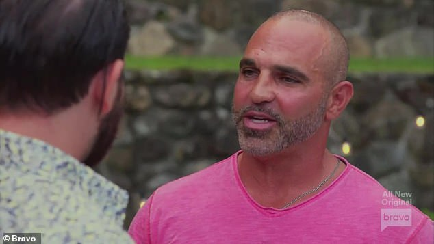 Business deal: Joe Gorga confronted Jonathan Steingraber after his wife Michelle Pais said that he owed her husband 'tens of thousands' of dollars