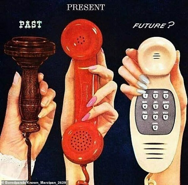 In 1956, people predicted what the future of phones would look like and came up with a chunky handheld landline that it slightly less tech-savvy than a smartphone