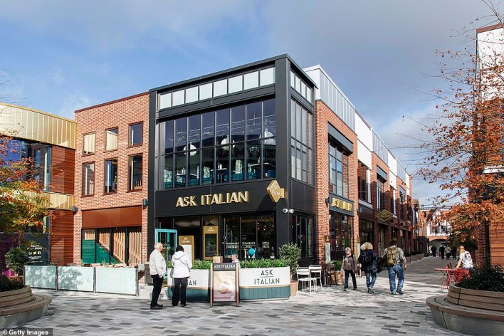 Ask Italian also closed their sites temporarily amid the Covid-19 crisis. Pictured: The Stratford upon Avon branch