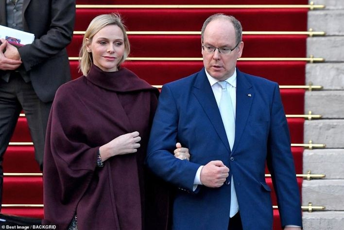 Prince Albert of Monaco, pictured with his wifeu00A0Princess Charlene of Monaco last year, tested positive for coronavirus