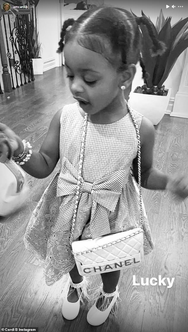 Best of everything:u00A0Cardi B proved to be the best mom as she outfitted her two-year-old daughter Kulture with her very own $5,000 Chanel purse in a snap shared to Instagram on Thursday evening