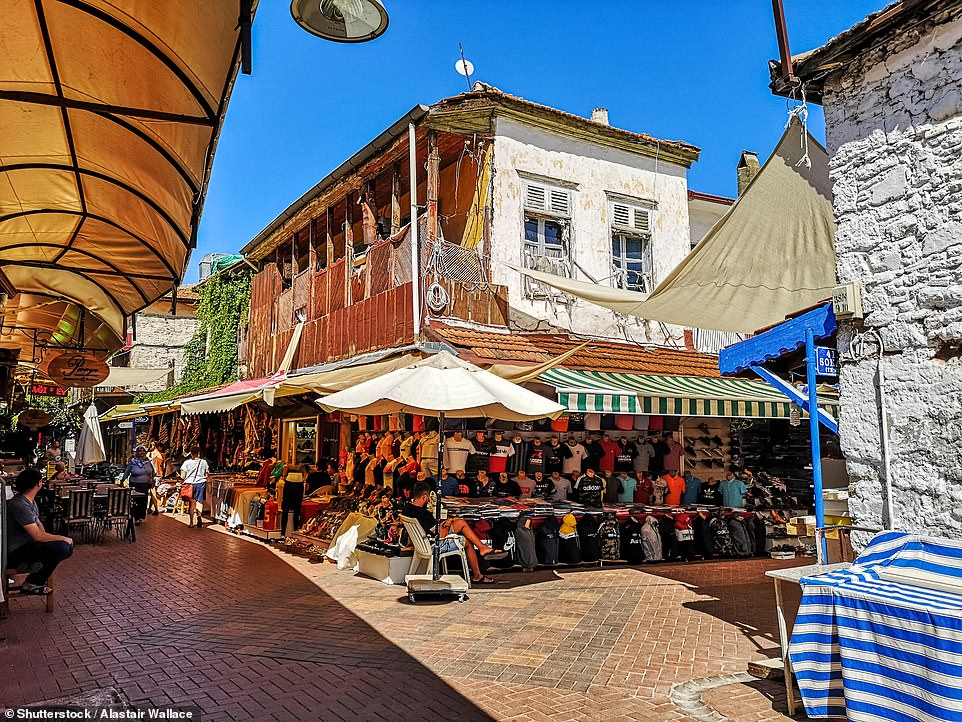 Fethiye old town where Victoria and her fiancé merrily gorged on Turkish kebabs with lashings of Turkish beer, Efes