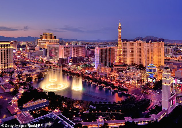 So many lights: A look at the strip that includes the Bellagio and The Paris