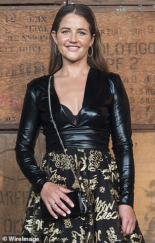 She's one fashionable filly!u00A0The 35-year-old wowed in a black leather top that featured a deep, revealing V-neckline that showed off a hint of cleavage