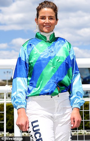 Racing gear: Michelle made history as the first female jockey to win the Melbourne Cup, in 2015