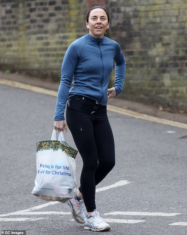 Out and about:u00A0Mel C, 47, was channelling her Sporty Spice alter-ego as she enjoyed a trip to the shops in north London on Saturday