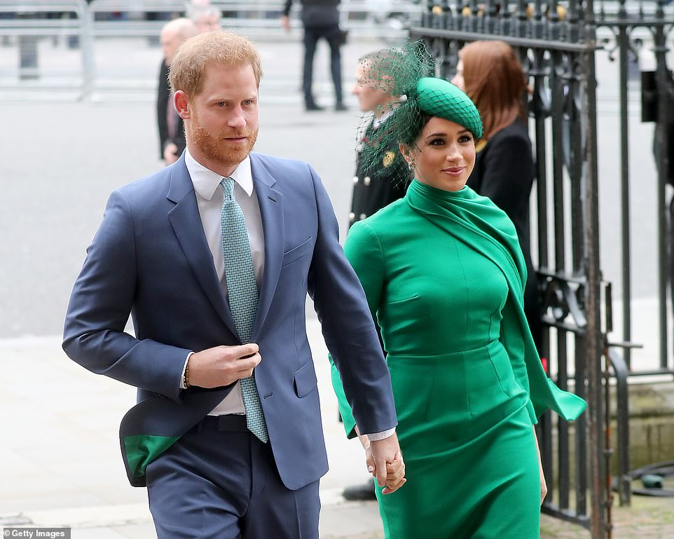 Prince Harry and Meghan Markleu00A0attending the Commonwealth Day Service 2020