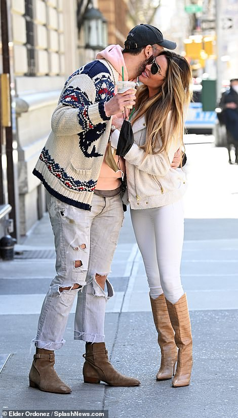 PDA: On several occasions the pair shared a passionate hug or a slight touch to hand or arm