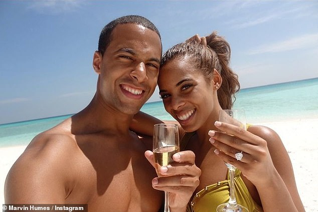 Whirlwind romance: Marvin and Rochelle first started dating back in March 2010 and were engaged by New Year's Eve in 2011u00A0 (pictured in Antigua where he popped the question)