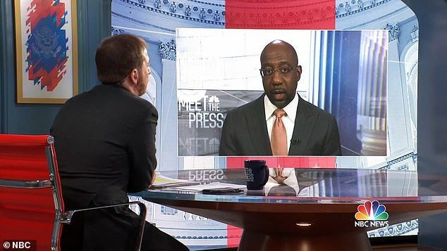 Warnock told NBC's 'Meet the Press' host Chuck Todd of Georgians electing him to Congress:u00A0'I can tell you this that the people of Georgia... in a real sense they saved the country. We would not have passed the American Rescue Plan, had I not been elected'