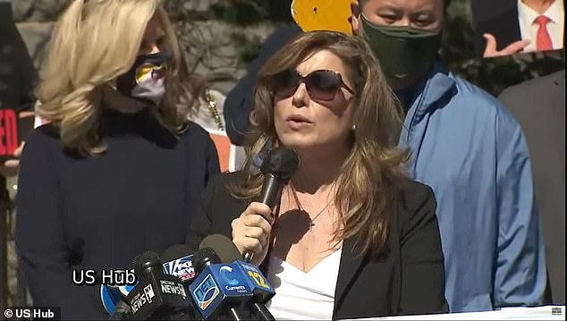 Dawn Best told the press conference on Sunday that Cuomo 'killed our mothers and fathers'