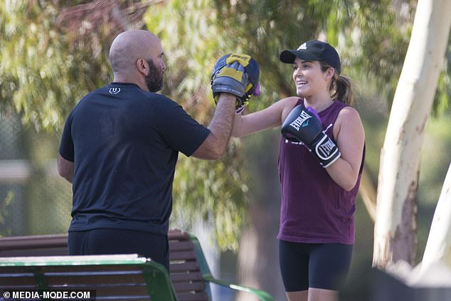 Back to the daily grind! Super fit Bachelor stars Georgia Love and Lee Elliott did a couple workout last week following their wedding and honeymoon in Tasmania