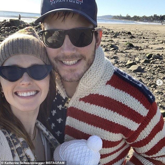 Reunited:u00A0Pratt was back in the US after an extended stay Down Under while shooting the latest addition to the Marvel Cinematic Universe, Thor: Love And Thunder