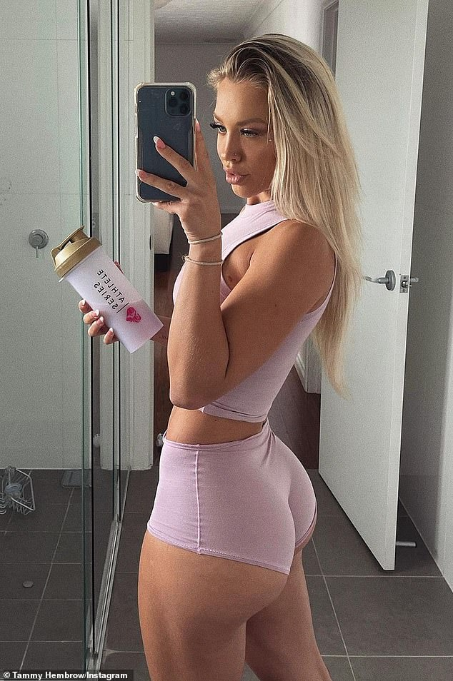 She's not shy: Tammy often leaves little to the imagination in revealing workout ensembles and bikinis on Instagram