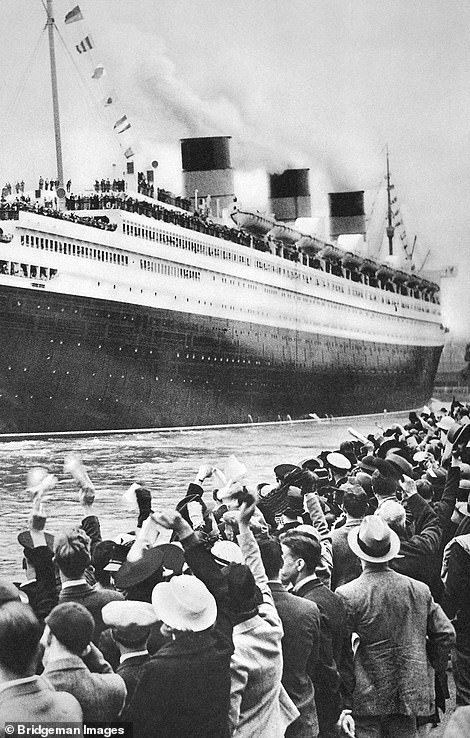 The 1934 launch of the Queen Mary in Southampton