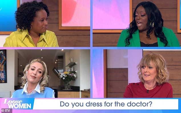 And there's more: Things were no less chaotic for Loose Women stars (L-R, top to bottom) Charlene White, Judi Love, Paris Fury and Jane Moore with their own series of odd outbursts after Stephen also visited their set