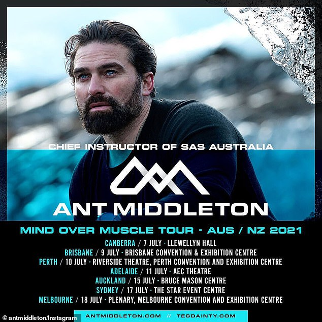 The road:Ant is alsobringing his Mind Over Muscle tour to Australia and New Zealand in July