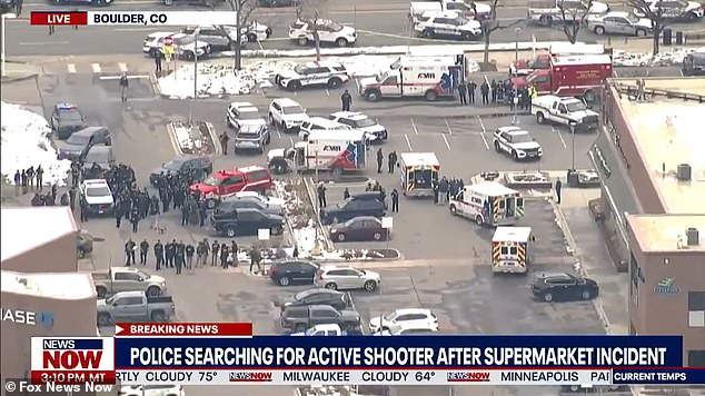 Boulder police said the incident unfolded just before 3pm local time at the King Soopers on Table Mesa in Boulder