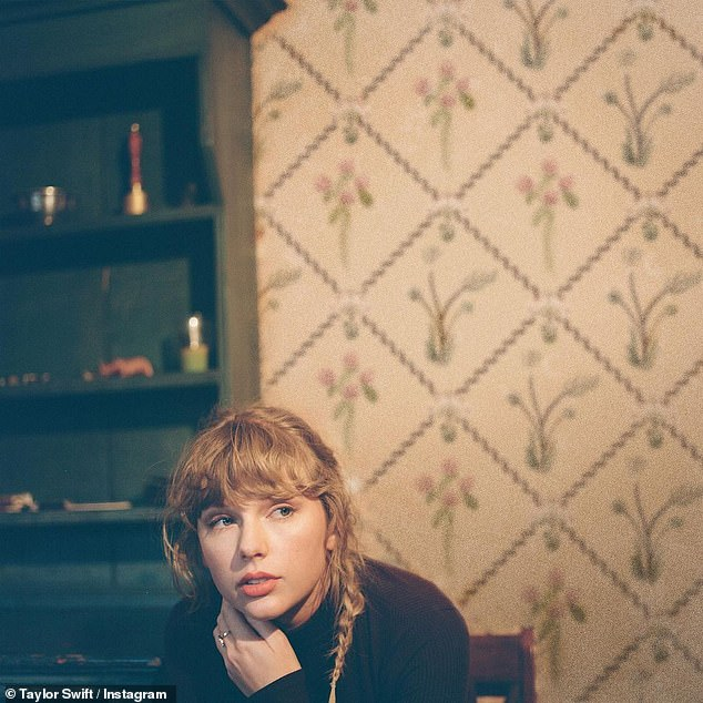 Re-recordings:Taylor has gone forward with re-recording her first six albums after the rights to her masters were sold, Gomez gushing 'SO proud of you, as always Tay'; pictured December 2020