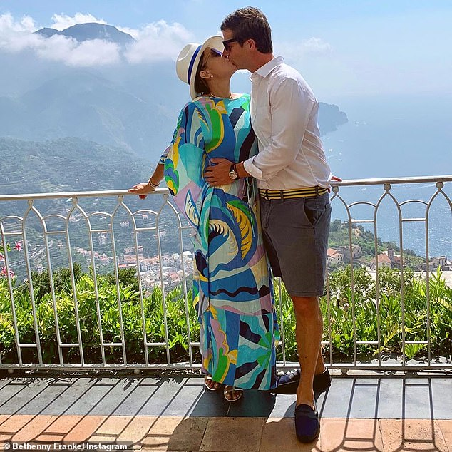 They have a lot of fun together: on vacation for Paul's birthday as they share a kiss