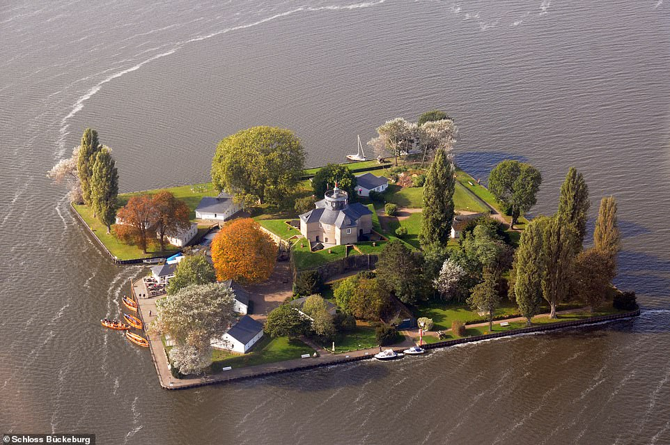 Wilhelmstein island - a man-made islandin the middle of Lake Steinhude close to Hanover in Lower Saxony