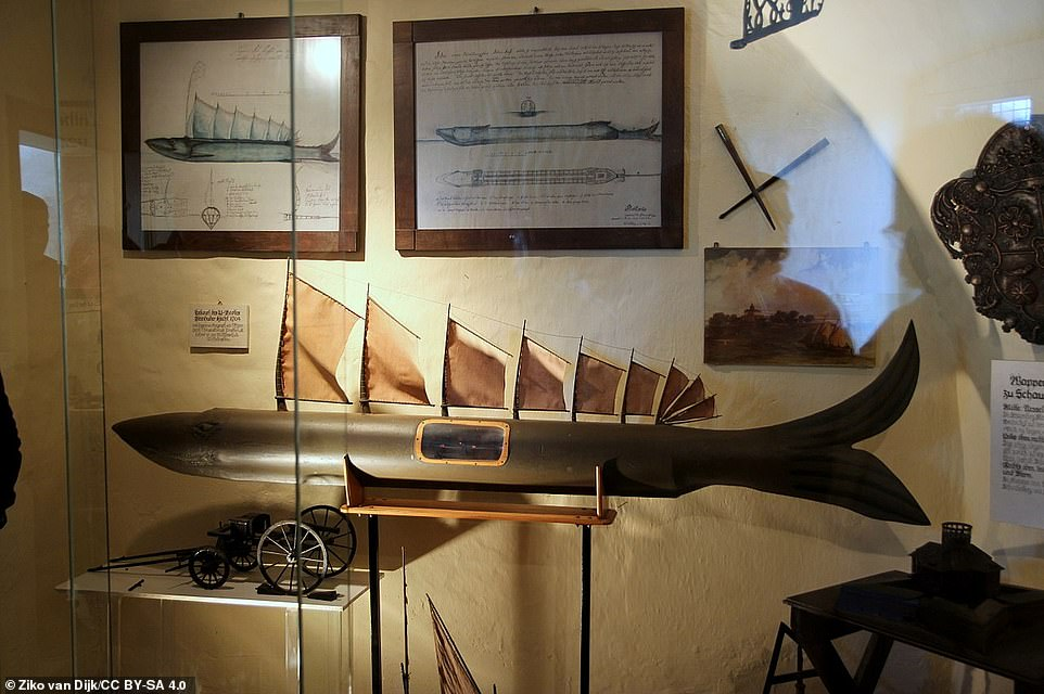 Germany's first submarine, the Steinhuder Hecht, was built on Wilhelmstein in 1772. The picture here (used courtesy of the Creative Commons licence) shows the model of it that's on display in the island's museum