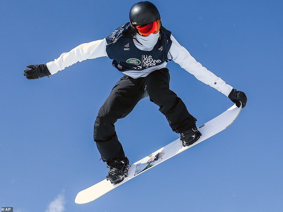 American snowboarder Shaun White (pictured on Sunday), 34, is one of the most decorated in his sport in the world, having three Olympic gold to his name