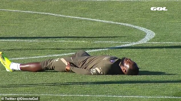 Moussa Dembele (above) fainted and appeared to lose consciousness during training