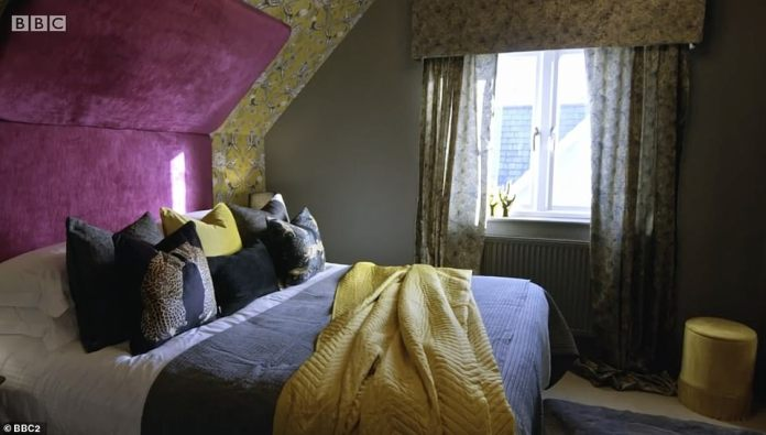 Experts questioned whether Siobhan's design was suitable for families with young children, and whether she had followed the brief.  Pictured: Siobhan's bedroom design