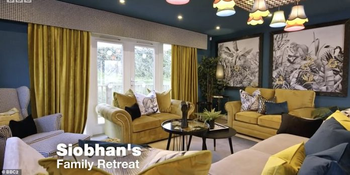 The design of Siobhan's family retreat (pictured) did not impress the judges more than Lynsey's efforts - despite their similarities