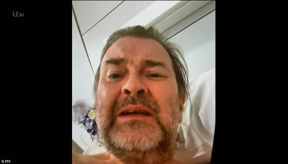 Battle:The Good Morning Britain presenter, 53, filmed every step of Derek's, pictured, year long battle with COVID-19 following his hospitalisation with the respiratory illness in March 2020 with the fly-on-the-wall programme aired on Tuesday