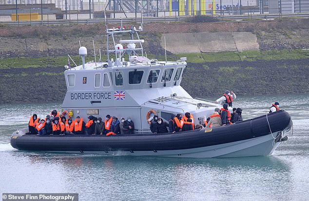 More than 100 migrants crossed the Channel yesterday on what is believed to be the record day of the year