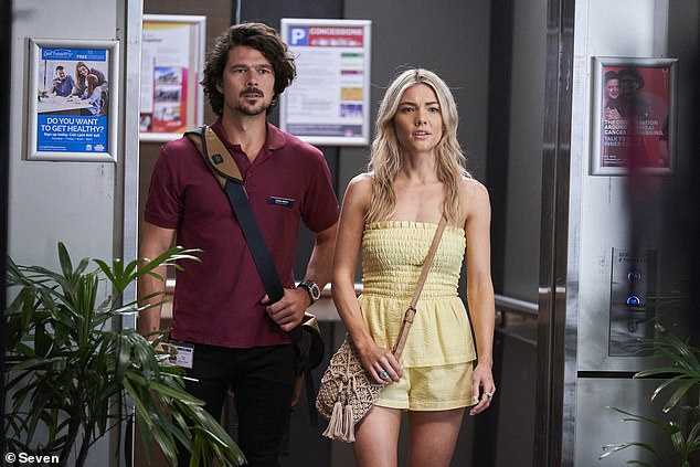 Devastating blow: Judging by the trailer, Jasmine Delaney (Sam Frost) doesn't get her happily ever after with boyfriend Lewis Hayes (Luke Arnold)