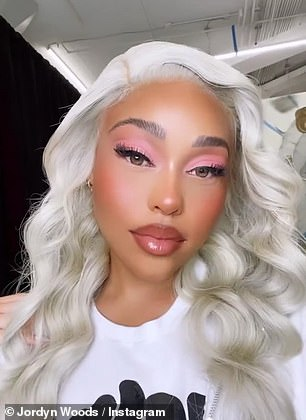 Jordyn: The Instagram influencer gave a nod of respect to Minaj when she debuted the icy blonde look