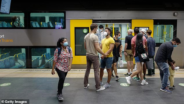 Face masks were mandatory at the beginning of the year after an outbreak on the Northern Beaches spread across Sydney