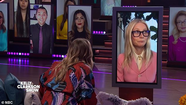 Shock value: It only took three little words to make Gwyneth Paltrow 'win' Kelly Clarkson's 'favorite guest this season' of her daytime talk show