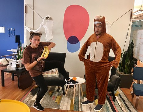 Staff are treated to regular fancy dress parties, including ones where they drank beer and wine and dressed as unicorns and monkeys